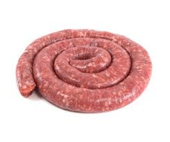 A fresh coil of Boerewors ready for the barbeque