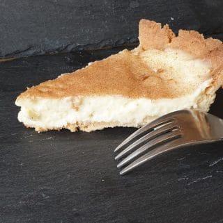 A slice of creamy Milk Tart