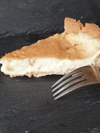 A slice of creamy Milk Tart