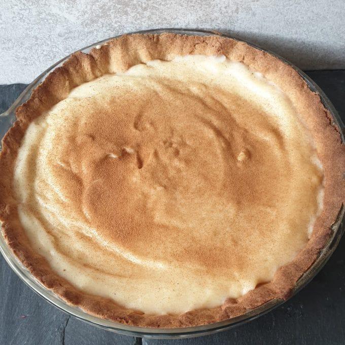 Milk Tart in sweet pastry shell