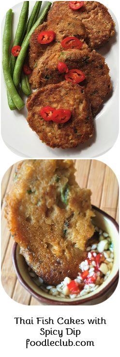 Thai salmon fishcakes pinable image