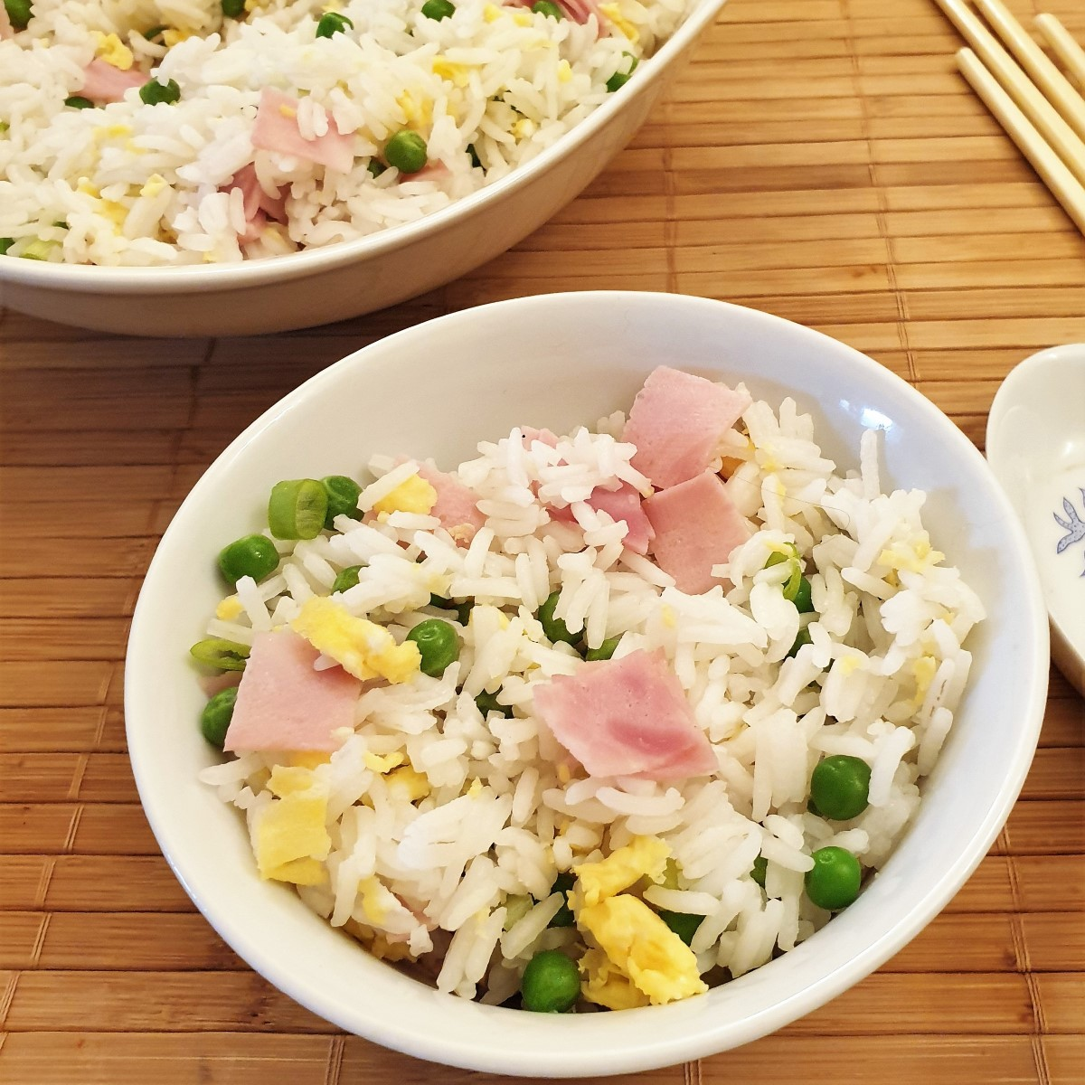 A bowl of Chinese Egg Fried Rice