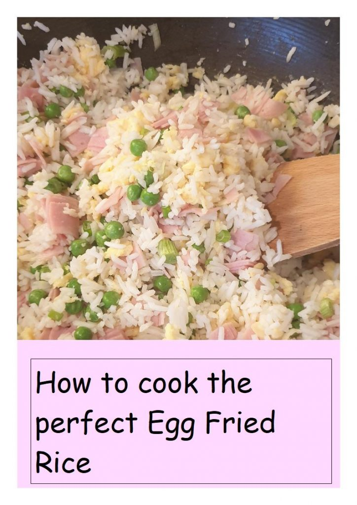 Egg Fried Rice in a Wok