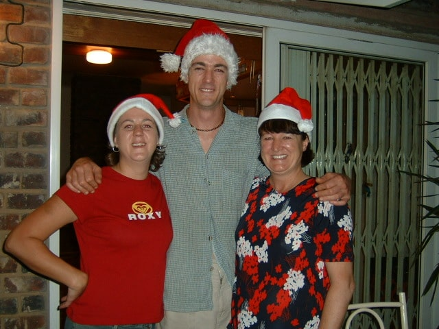 A picture of me with my son and daughter, taken Christmas 2004