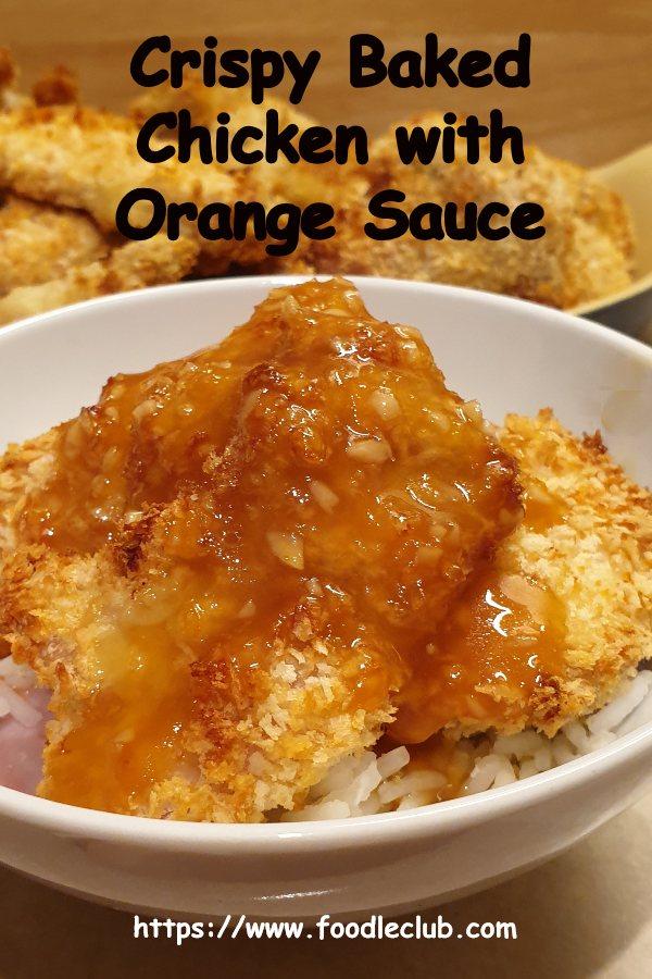 Sticky orange chicken - pinterest image