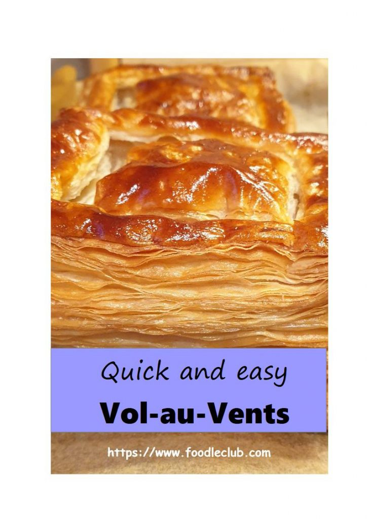 Quick and easy vol-au-vents for Pinterest.