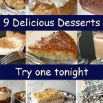 A collageof 9 delicious desserts.