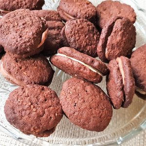 A plate of homemade Romany Creams.