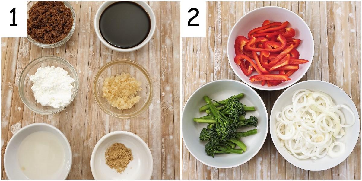 Ingredients for teriyaki chicken