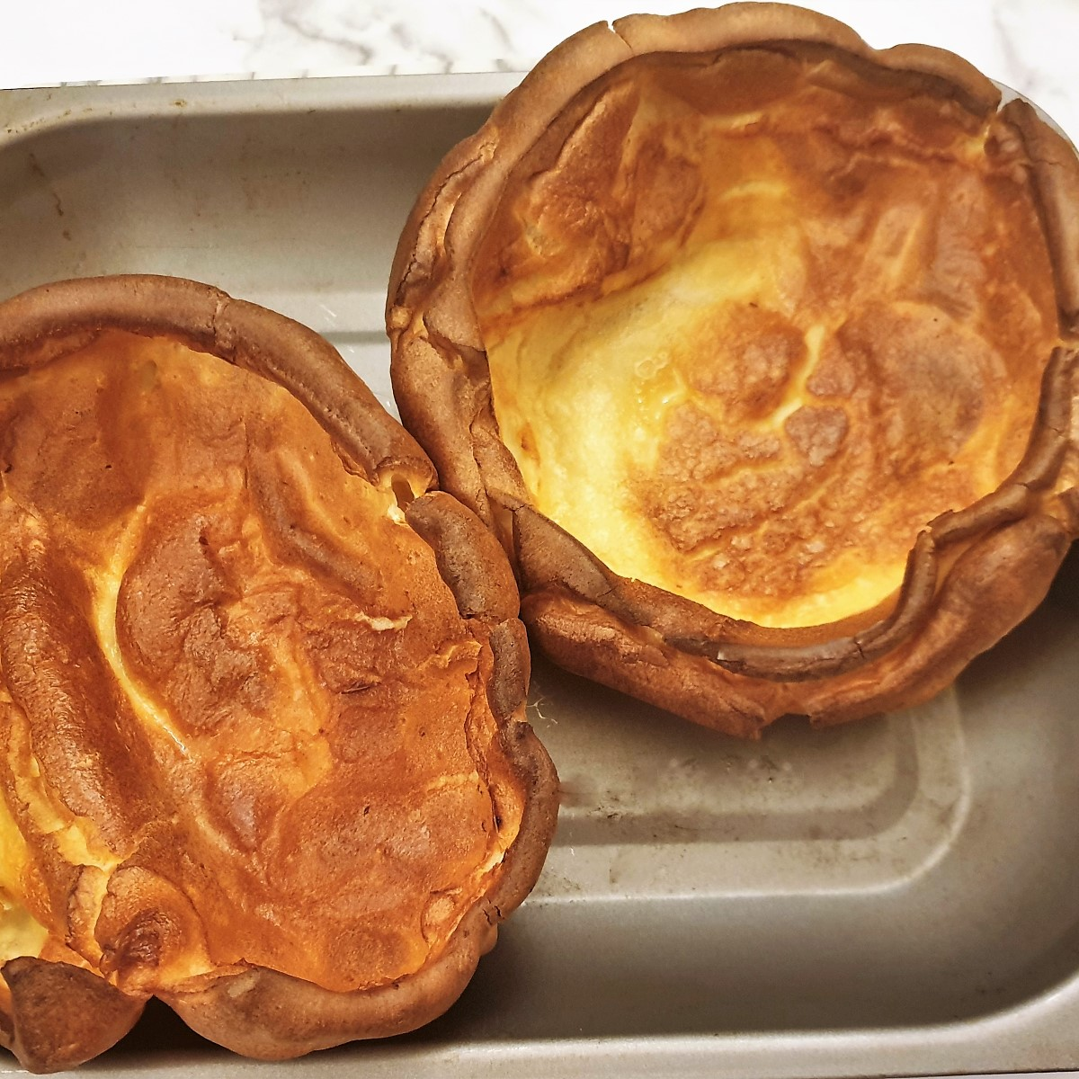 2 giant yorkshire puddings.