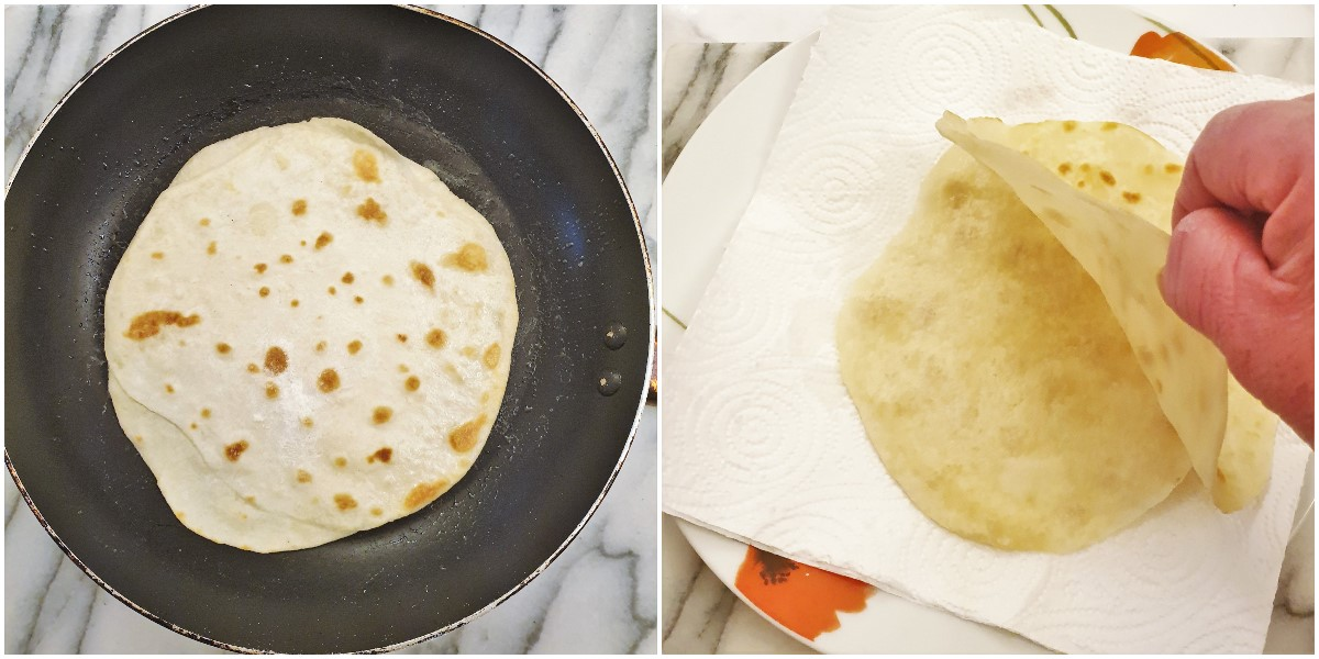How to separate the cooked pancakes.