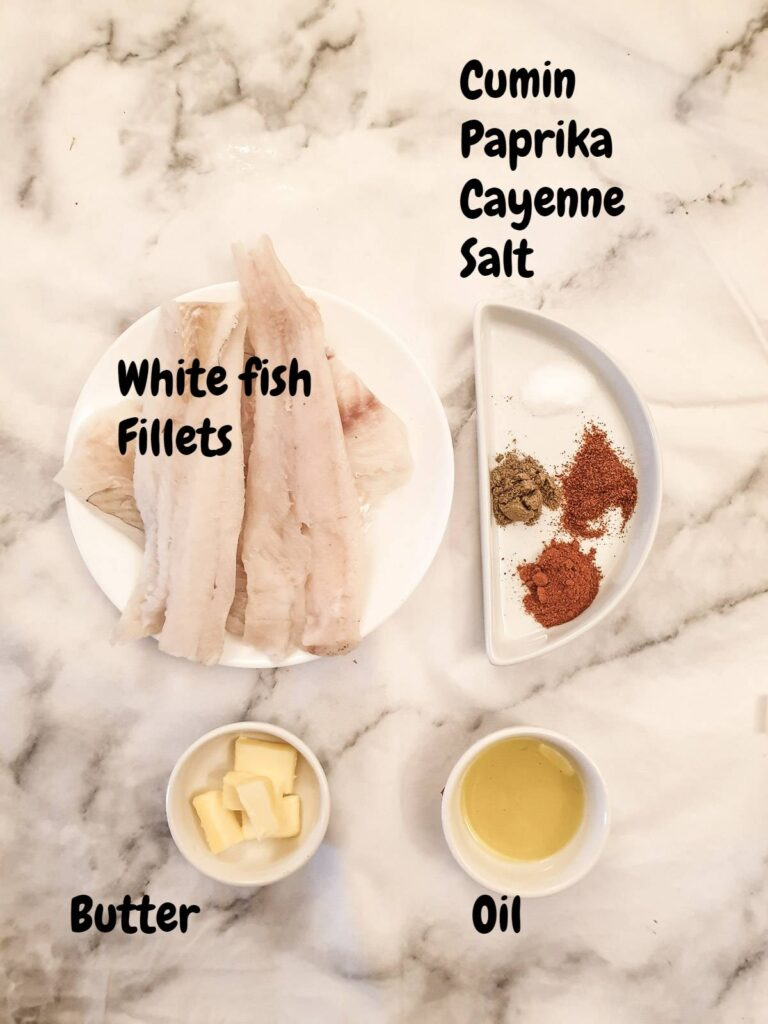 Ingredients for fish tacos.