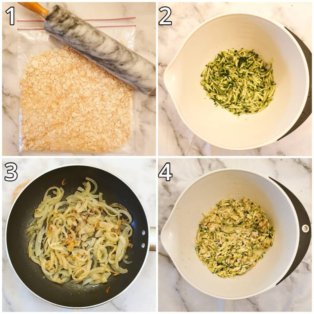 Steps for mixing the ingredients.