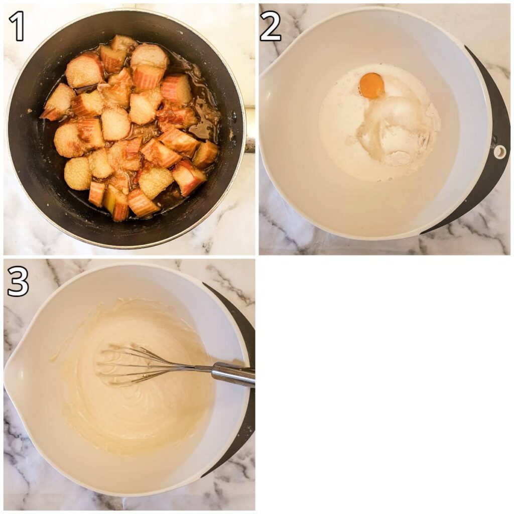 Steps for mixing the cake.