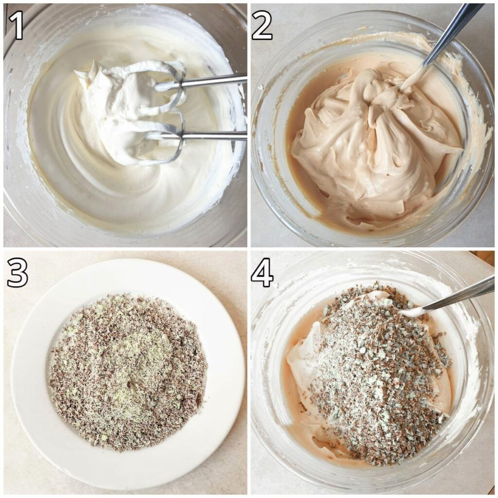 Steps for mixing the tart.