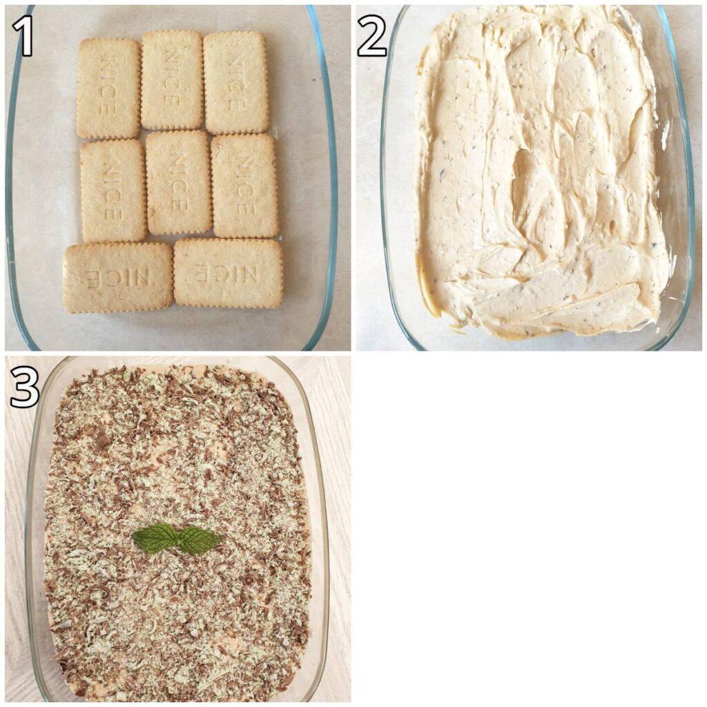 Step for assembling the tart.