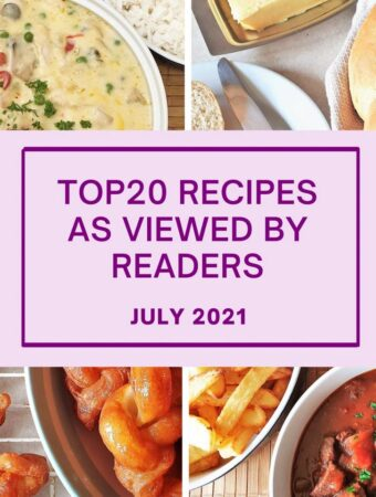 Top 20 recipes as viewed by readers.