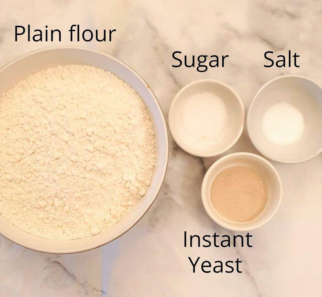 Ingredients for vetkoek.