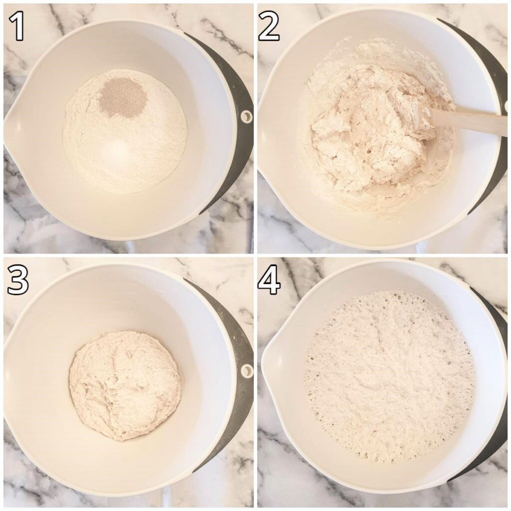 Steps for making the dough.