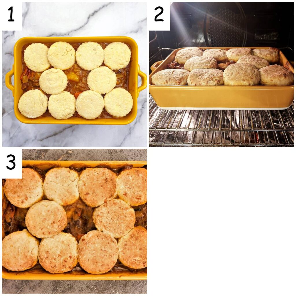 Steps to assemble and bake.